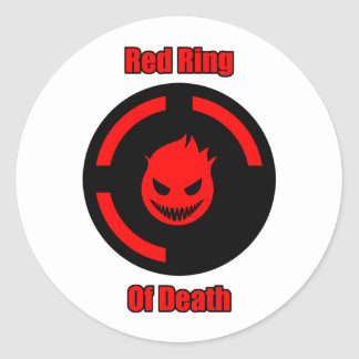 Red Ring of Death Classic Round Sticker