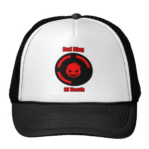 Red Ring of Death Mesh Hat
