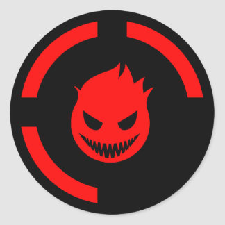 Red Ring of Death Round Stickers