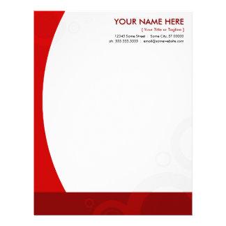 red rings letterhead