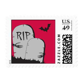 Red RIP Postage