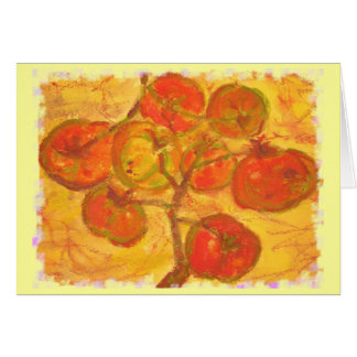 red ripe tomato wishes cards