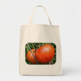 Red Ripe Tomatoes On Vine Nature Tote Bag