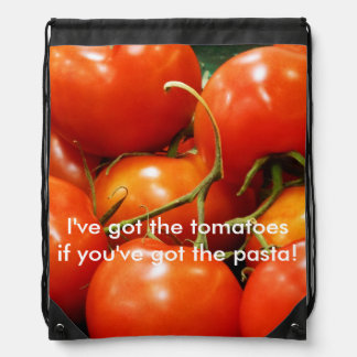 Red Ripe Tomatoes Cinch Bag