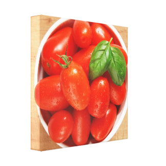 Red Ripe Tomatoes Wrapped Canvas