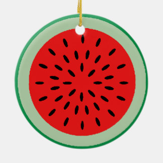 Red Ripe Watermelon Christmas Tree Ornament