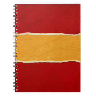 Red ripped christmas wrapping paper spiral notebook