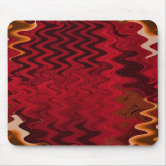 red ripple mouse pad