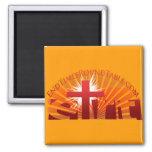 Red Rising Sun Fridge Magnets