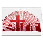 Red Rising Sun Greeting Card