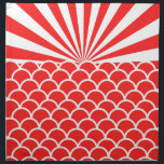 "Red Rising Sun Japanese inspired pattern Napkin<br><div class=""desc"">red,  &quot;rising sun&quot;,  &quot;rising suns&quot;,  suns,  sun,  rusing,  japan,  japanese,  punk,  land,  flag,  vintage,  military,  ninja,  tokyo,  imperial,  pattern,  retro,  contemporary,  modern,  vintage,  traditional,  abstract,  geometric,  patterned,  decorative,  texture,  fish,  scales,  scale,  fishscale,  fishscales,  bold,  sunset,  sunrise,  geometric, </div>"