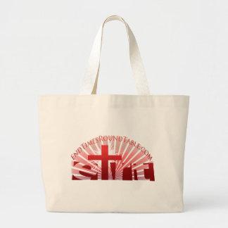 Red Rising Sun Large Tote Bag