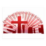 Red Rising Sun Postcard