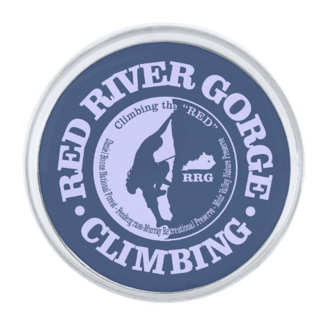 Red River Gorge (Climbing) Silver Finish Lapel Pin