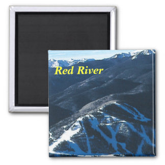 Red River new mexico 2 Inch Square Magnet