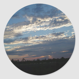Red River Sunset Louisiana Classic Round Sticker