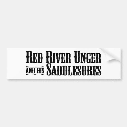 Red River Unger y su pegatina para el parachoques  Pegatina Para Auto