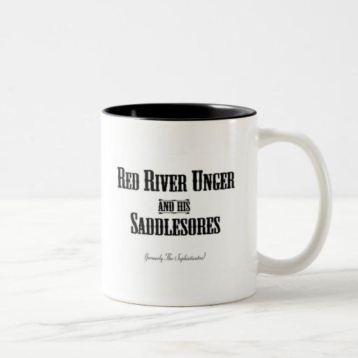 Red River Unger y su Saddlesores Taza Dos Tonos