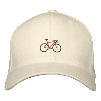 Red Road Bike Embroidered Baseball Cap