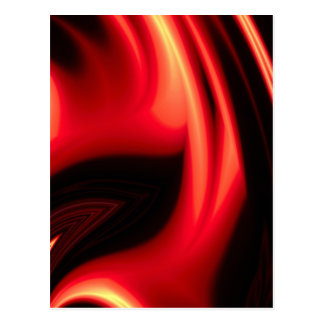 Red Road - Modern Abstract Postcard