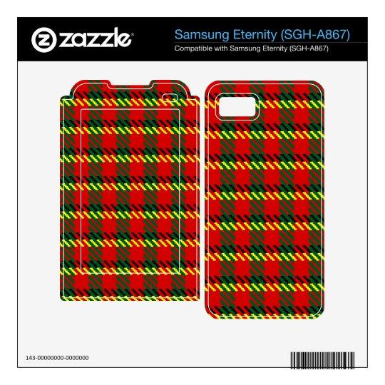 Red Rob Tartan Skin For Samsung Eternity