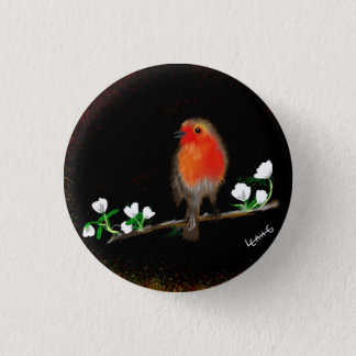 Red Robin badges and pins, original art drawing Button