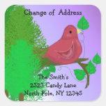 Red Robin Change of Address Sticker