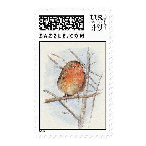Red Robin Postage Stamp