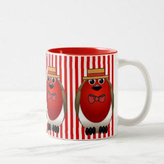 Red Robin Quartet Two-Tone Coffee Mug