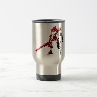 Red robot coffee cup 15 oz stainless steel travel mug