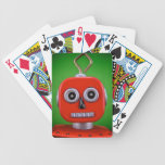 Red Robot Playing Cards