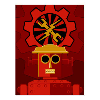 Red Robot Post Cards