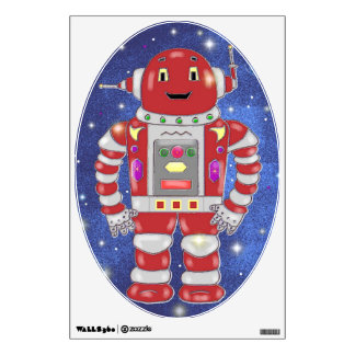 Red Robot Wall Decal