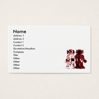 red robots business card