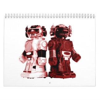 red robots calendar