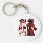 red robots keychain