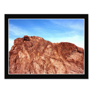 Red Rock At Hoover Dam 4.25x5.5 Paper Invitation Card