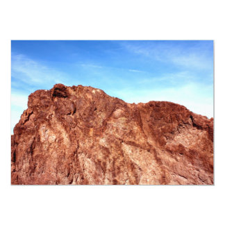 Red Rock At Hoover Dam 5x7 Paper Invitation Card