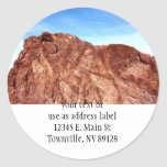 Red Rock At Hoover Dam Round Stickers