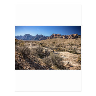 Red Rock Canyon & Dry Riverbed Postcard