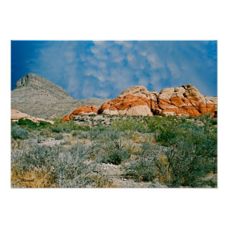 Red Rock Canyon Landscape Photo Art Print