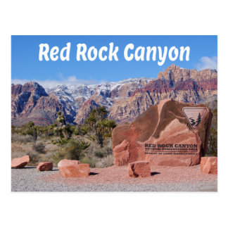 Red Rock Canyon Las Vegas Nevada United States USA Postcard