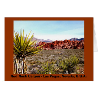 Red Rock Canyon notecard #2