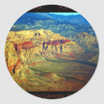 Red Rock Canyon _ Planet Art Series Classic Round Sticker