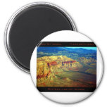 Red Rock Canyon _ Planet Art Series 2 Inch Round Magnet
