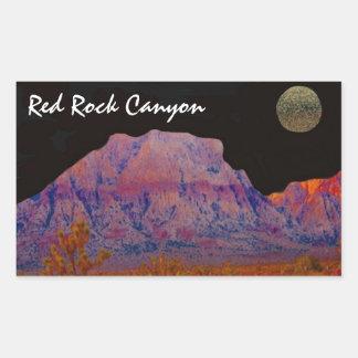 Red Rock Canyon Rectangular Sticker