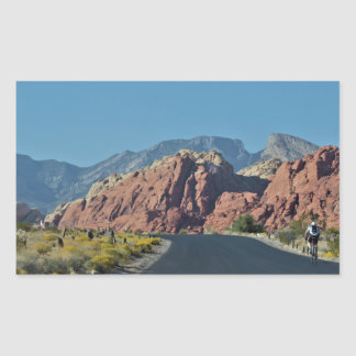 Red Rock Canyon Roadway Rectangular Sticker