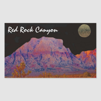 Red Rock Canyon Rectangle Stickers