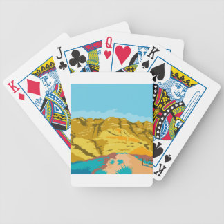 Red Rock Canyon WPA Bicycle Playing Cards