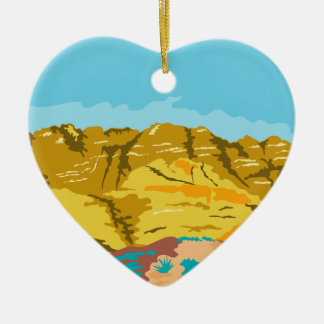 Red Rock Canyon WPA Ceramic Ornament